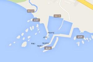 地磯・防波堤マップ